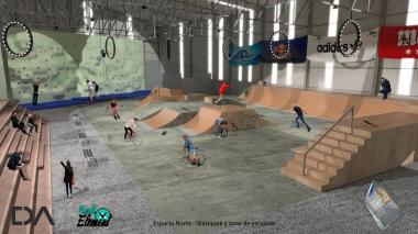 1- Zona skate y escalada